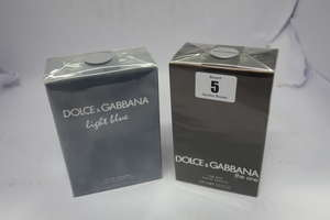 Three Dolce & Gabbana Light Blue Pour Homme eau de toilette (3 x 75ml), one Dolce & Gabbana The One eau de toilette (100ml).
