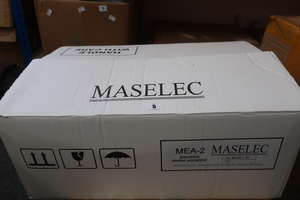 A boxed as new Maselec MEA-2 Precision 2-Channel Equalizer (Box opened).