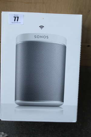 A boxed as new Sonos Play:1 wireless smart speaker