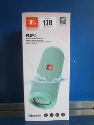 A boxed as new JBL Flip...