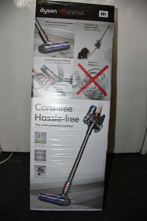A boxed as new Dyson V8...