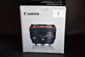 A boxed as new Canon EF 50mm f/1.2 L USM Lens (Box opened).