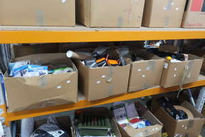 Three boxes of miscellaneous items to include fittings