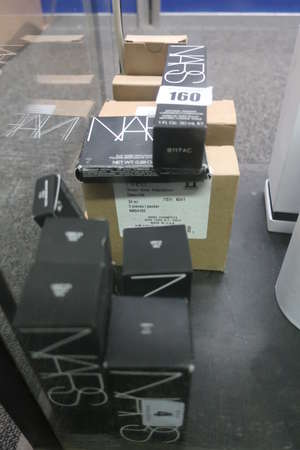 A quantity of as new miscellaneous NARS cosmetics to include three All Day Luminous Weightless Foundation Syracuse (30ml), three Natural Radiant Longwear Foundation Vienna (30ml), three Sheer Glow Foundation Deauville (30ml) and three Climax Dramatic
