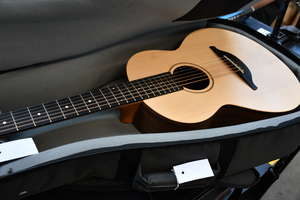 One as new Sheeran by Lowden W04 acoustic guitar figured walnut body and sitka spruce top in a case.