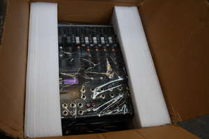 A boxed as new Depusheng 8 Channel Digital Audio Mixer Console (EG-8222SD ).
