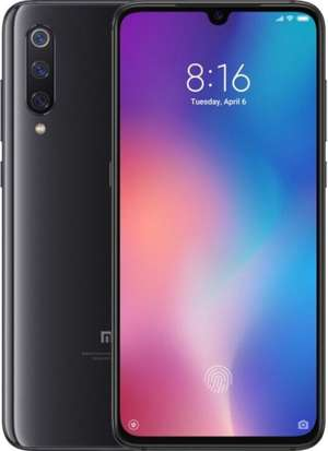 A boxed as new Xiaomi Mi 9 6/64 Global Edition in Piano Black.