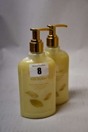 Six Thames Gold leaf perfumed body wash 270ml.