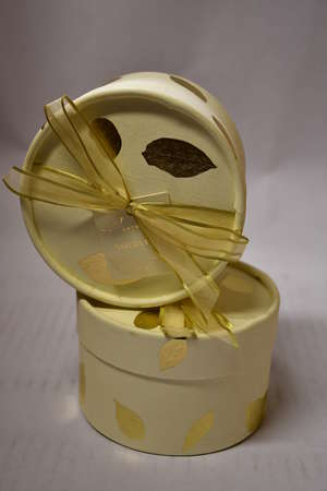 Four Thymes Goldleaf perfumed dusting powder.