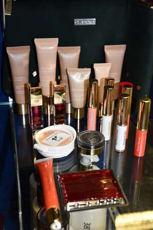 As new Clarins cosmetics...