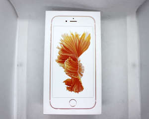 A refurbished Apple iPhone 6s A1688 64GB in Rose Gold (IMEI: 359155076105062) (UK plug) (Box sealed).