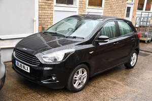 A 2018 Ford Ka+ Zetec five door hatchback, registration number BL18 NLX, 1198cc, petrol, manual, one former keeper, pre-MOT, V5 document available (Deceased Estate). Please Note: This lot is subject to 20% Buyers Premium plus VAT (24% in total)