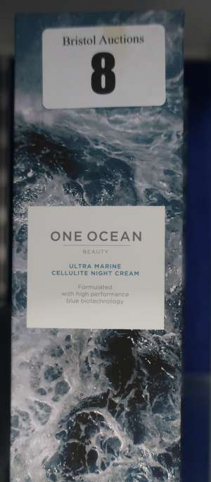 Five boxed as new One Ocean ultra marine cellulite night cream (5 x 200ml).