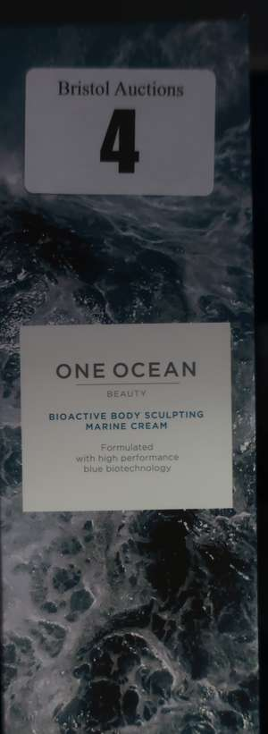 Five boxed as new One Ocean bioactive body sculpting cream (5 x 200ml).