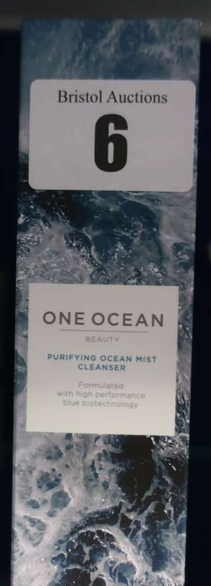 Five boxed as new One Ocean purifying ocean mist cleanser (5 x 100ml).