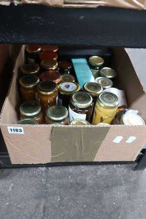 A box of spreads/jams...