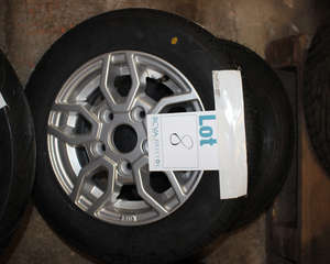 An Alloy TR603155/70R12C 104/102M with tubeless trailer tyre RSTHS05.