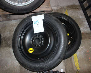 Two Space Saver steel wheels with tyres including 2011 Vauxhall Insignia mark 1 17.