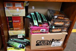 A quantity of health and fitness protein bars to include barbell lemon curd bars and Grenade fudge brownie protein bars (12 pack)