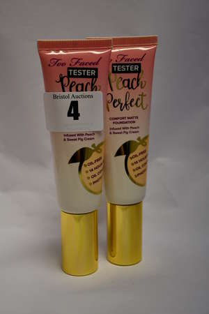 Twenty as new Too Faced Peach Perfect comfort matte foundations infused with peach and sweet fig milk/cream (48ml
