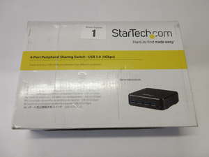 A boxed as new StarTech HBS304A24A USB 3.0 Peripheral Sharing  4 Port USB Switch (Box opened).