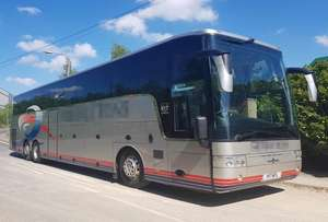 DAF Van Hool T917 Astron, Registration M111 DPC. First registered 01-04-2009, Length: 14m, Seats: 48, Interior Colour: Cream Leather, Euro Emissions: 4, Gearbox: As Tronic, MOT: 03-04-2020, Mileage (kms): Please enquire.
