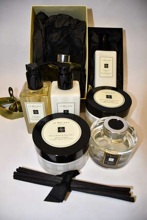 Two Jo Malone body creme (175ml), a hand and body wash and a hand and body lotion (Both 250ml).