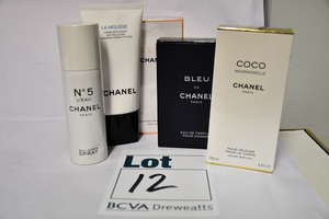 Five Chanel products;...