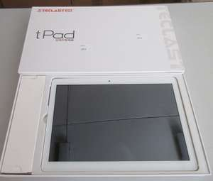 A used Teclast tPad A10S Android Tablet. Screen damaged, some ghosting and stripes and lines. Activation clear. Sold for spares or repair. Boxed with USB cable, manual and 2-pin charger.