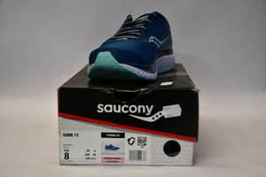 A pair of as new Saucony Guide 13 running shoes (UK 6).