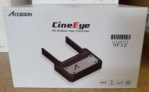 A boxed as new Accsoon CineEye 5G Wireless Video Transmitter WIT01. RRP £219.
