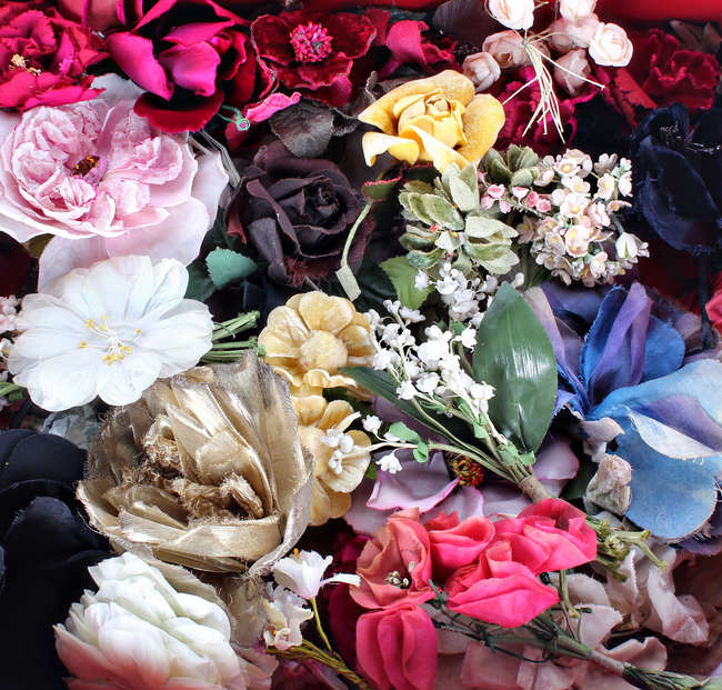 A collection of velvet silk and fabric corsage and millinery flowers a collection of velvet mightylinksfo