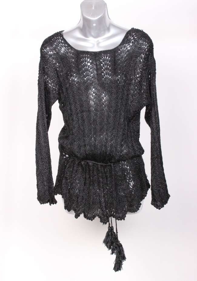 Black beaded dres and other costume