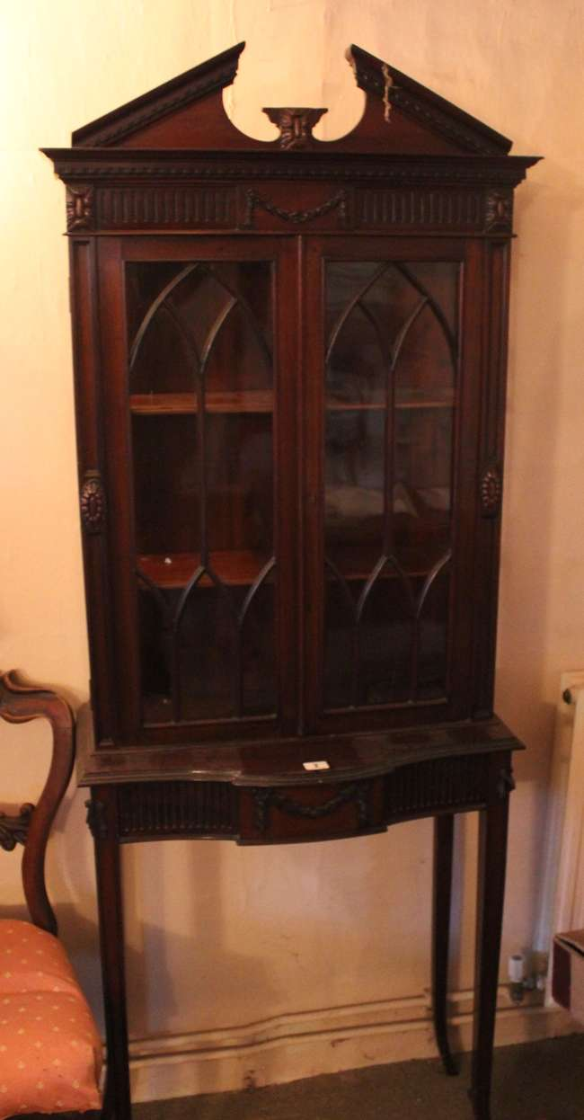 A George III style mahogany display cabinet