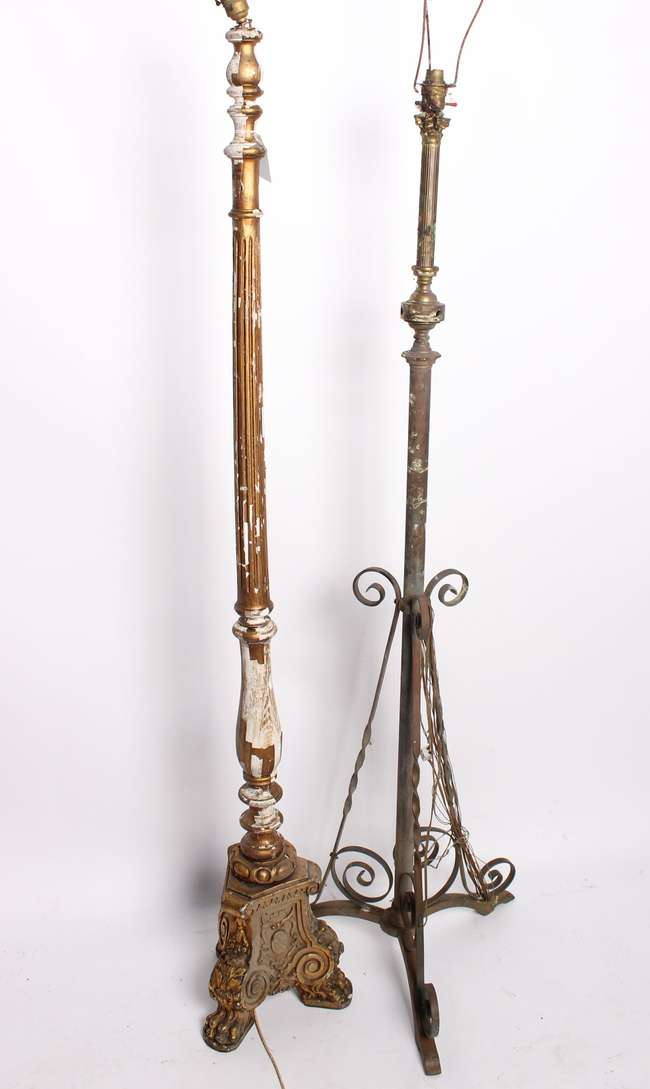 Two standard lamps