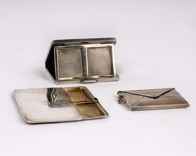 2 x stamp silver