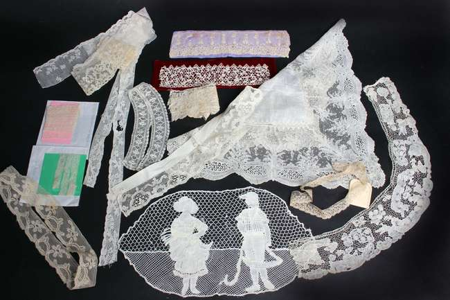 A collection of small lengths and pieces of 18th and 19th Century lace