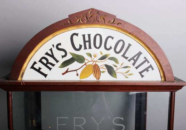 An early 20th Century Fry's chocolate shop display cabinet
