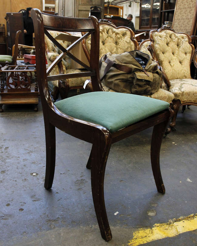 Mahogany dining chairs & 8 chairs
