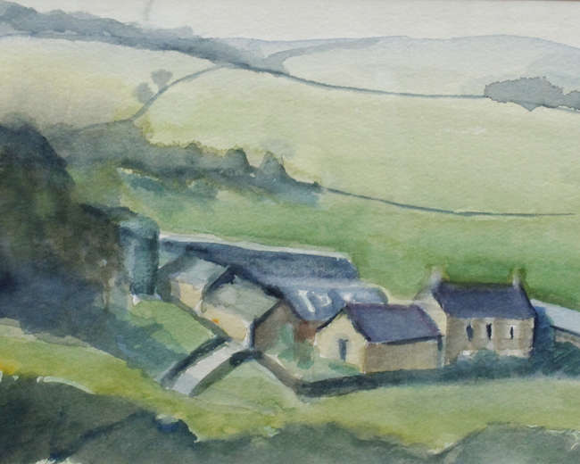 Frances Knight (21st century British School) 'Spring Burpham Looking West' Oil on board. Signed lower right