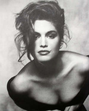 Two photographs of Cindy Crawford