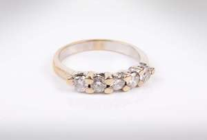 five stone ring diamond