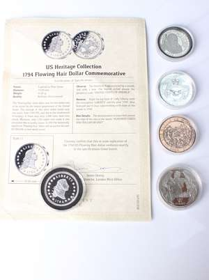 A Flowing Hair Dollar silver plated commemorative coin