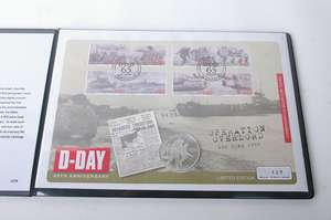 Westminster stamp and coin cover: D-Day 65th Anniversary: eight Isle of Man stamps postmarked 6th June 2009