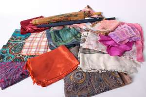 A collection of ladies scarves