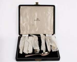 Boxed silver spoons