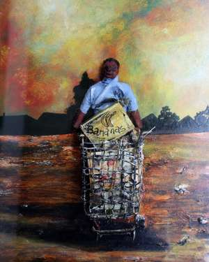 A mixed media image by south African artist D. Sibisi