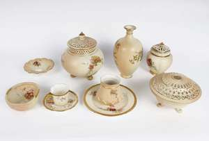 A collection of Royal Worcester