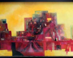 Contemporary - Oil/Acrylic - City scape and another (2)