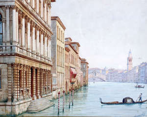 RS Lemmo pictures - 3 watwecolours of Venice, all signed